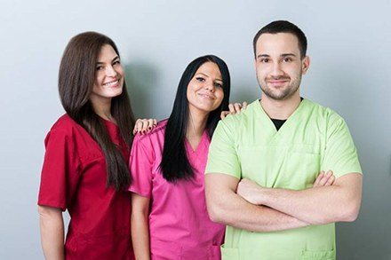 Group of dental assistants